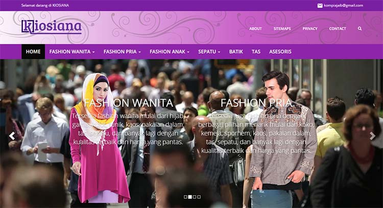Kiosiana, Premium Blogger Template For Online Shop