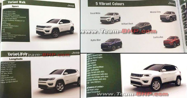 Jeep Compass india brochure