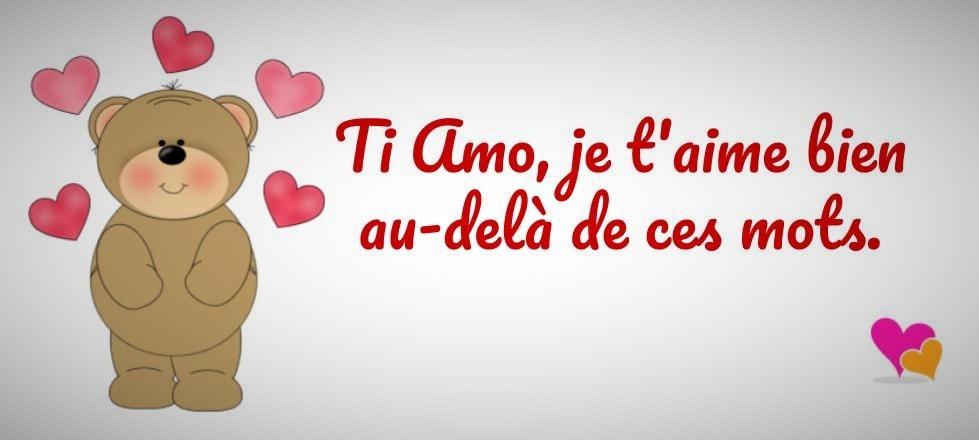 Phrase Ti amo, Je t'aime !