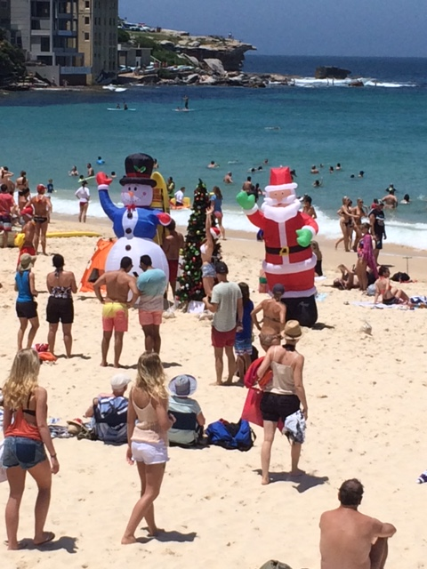 Santa on Bondi Beach