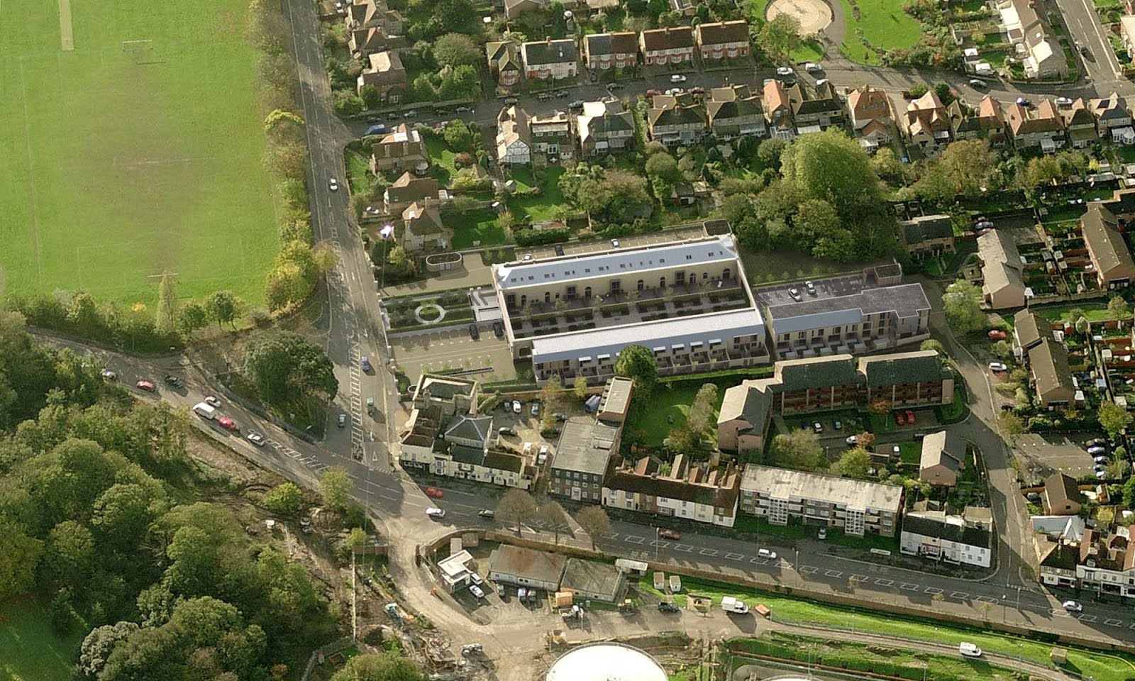 Gosport station restored from the air