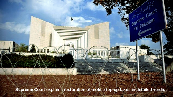 Supreme Court explains restoration of mobile top-up taxes in detailed verdict