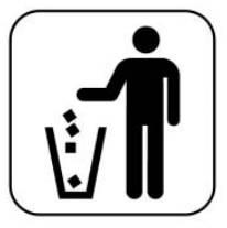 쓰레기는 반드시 쓰레기통에 버리십시오
