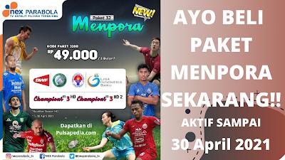 Harga Paket Piala Menpora Nex Parabola