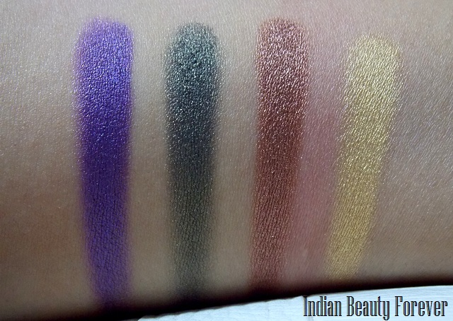 Lakme Eyeshadow Quartet Tanjore Rush price, swatches