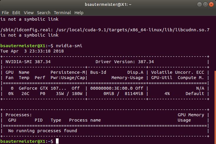 How to setup an eGPU on Ubuntu for TensorFlow