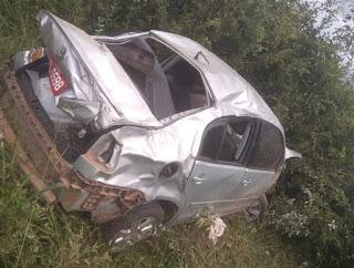 Idoso fica ferido após acidente na BR-242 em Seabra