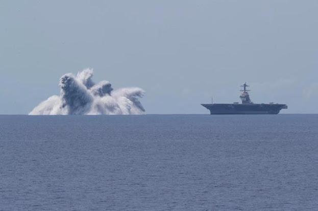 USA mega esplosione per testare portaerei (VIDEO)