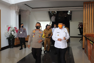 Kapolda Banten Terima Kunjungan Gubernur Banten, Guna Lakukan Rapat Koordinasi