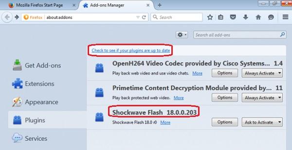 Adobe Flash Player Firefox Chip