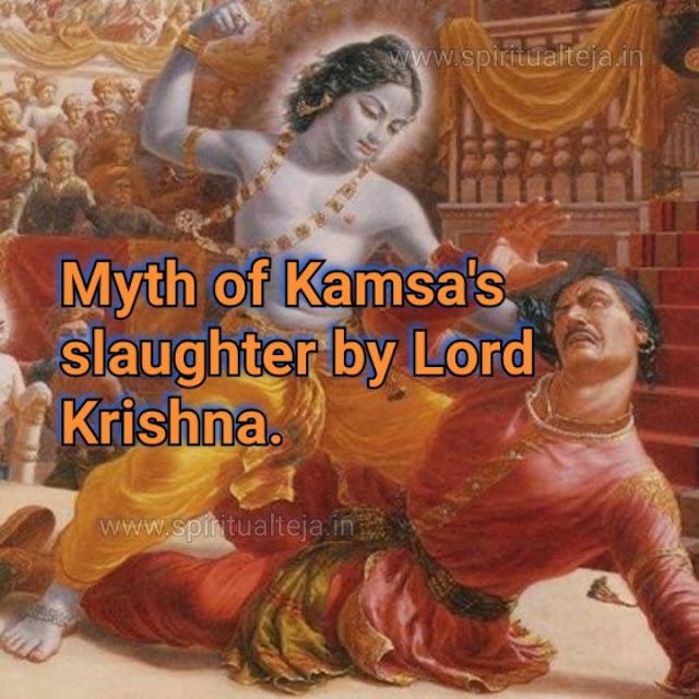 Myth of Kamsa's slaughter by Lord Krishna.