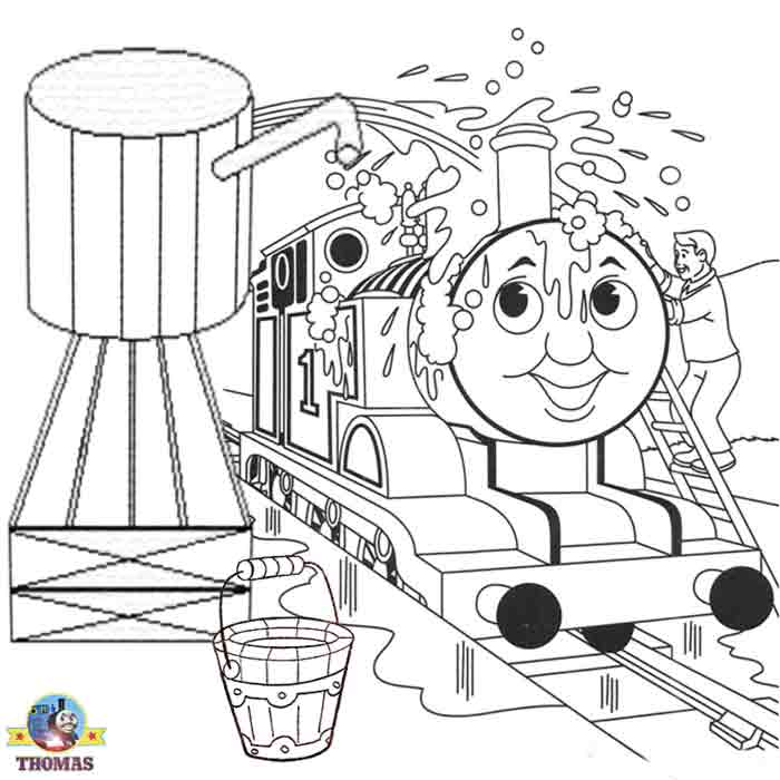 Steam Engine Coloring Pages