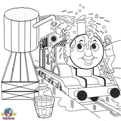 Cartoon Train Coloring Pages