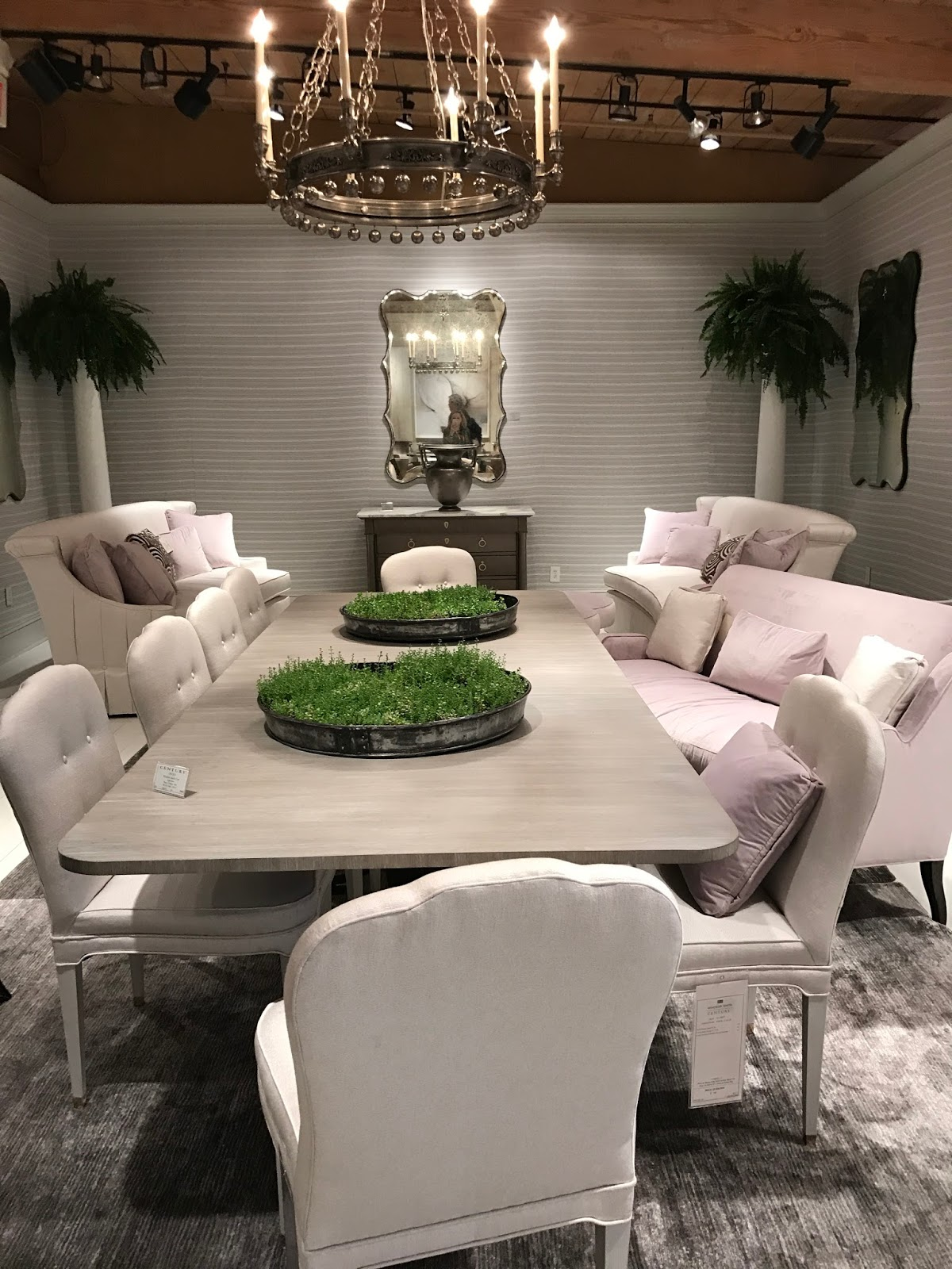 A new dining table and chairs were