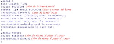 Caja de texto con cambio de color de fondo progresivo | CSS3 | Blogger