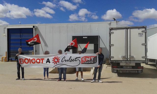 Protest der CNT-IAA Albacete 2017