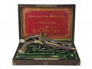 Pistolas de Simom Bolivar para subasta