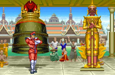 M. Bison nel suo stage di ''Street Fighter II''
