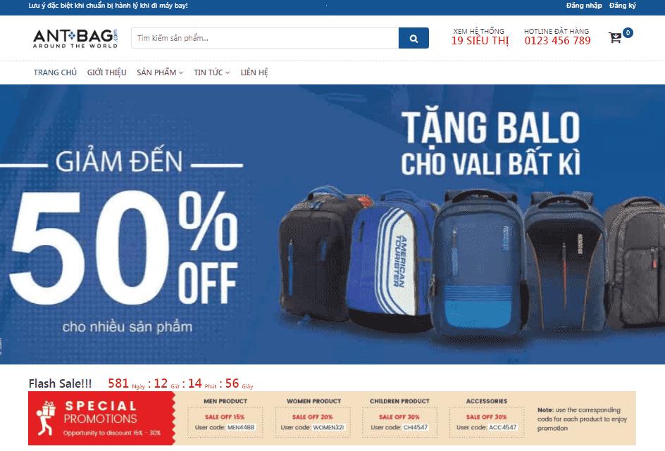 Template blogspot bán balo túi xách