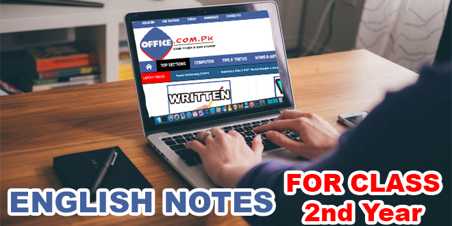 Download Complete Notes on English F Sc 2nd Year FBISE 2016-17