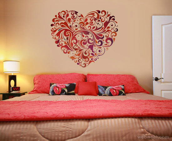 Modern bedroom decoration for walls