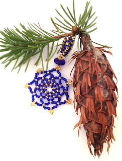 Beaded Snowflake ornament by Karen Williams