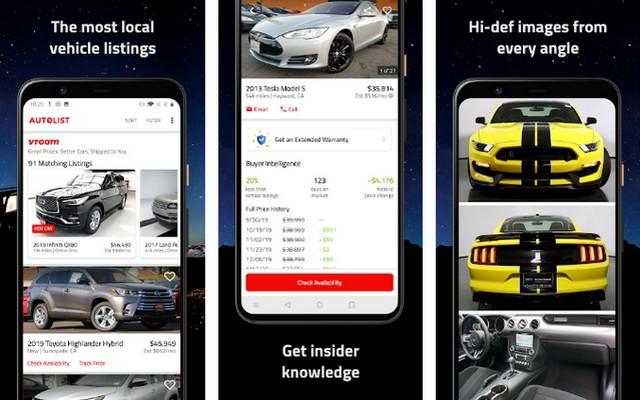 أفضل تطبيق لشراء السيارات للاندرويد