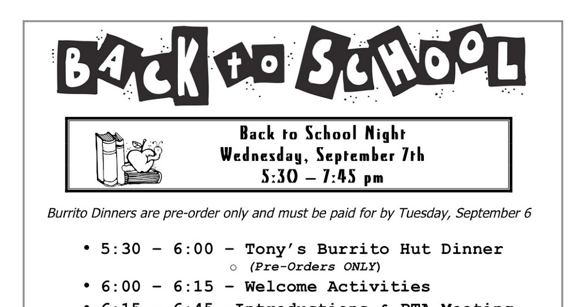 Elmhurst PTA: Back to School Night