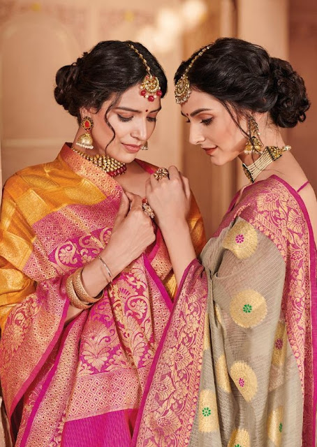 LT Fabric Ekanshi Kota Cheks Weaving Saree buy wholesale price