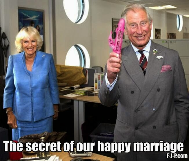 Funny Prince Charles Happy Marriage Secret Joke Picture