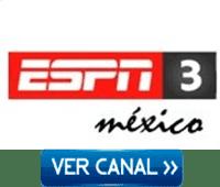 Ver ESPN 3 Mexico en vivo por esta pagina, señal norte emitida para México, Centroamérica y República Dominicana.