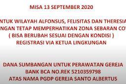 Misa Minggu 13 September 2020