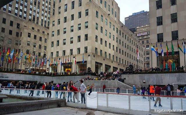 Rinque de patinação do Rockefeller Center, Nova York