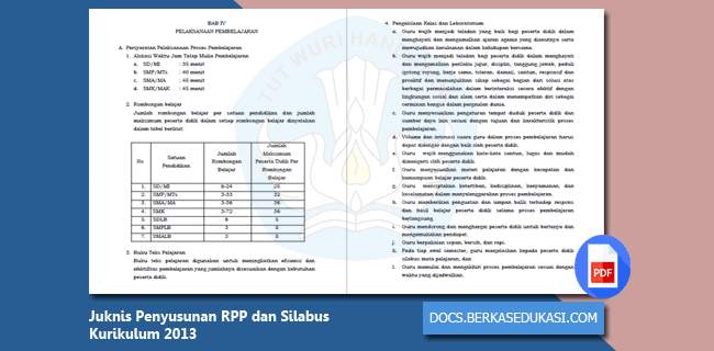 Juknis Penyusunan RPP dan Silabus Kurikulum 2013