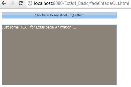 ExtJs slideIn slideOut example