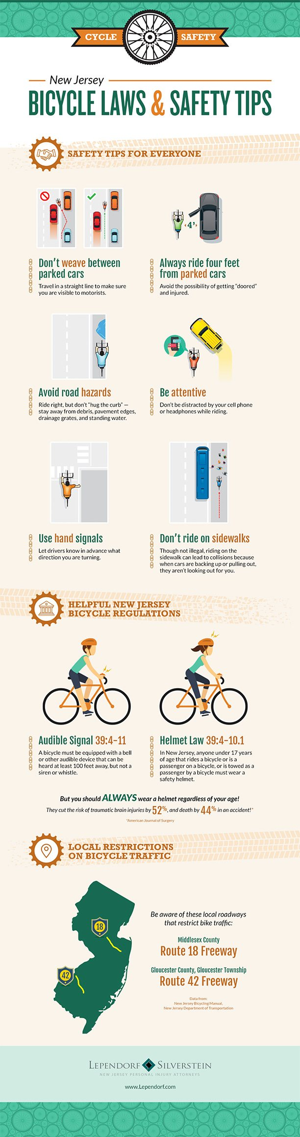 New Jersey Bicycle Laws and Safety Tips #infographic #Law & Legal #Bicycle Laws #Safety Tips