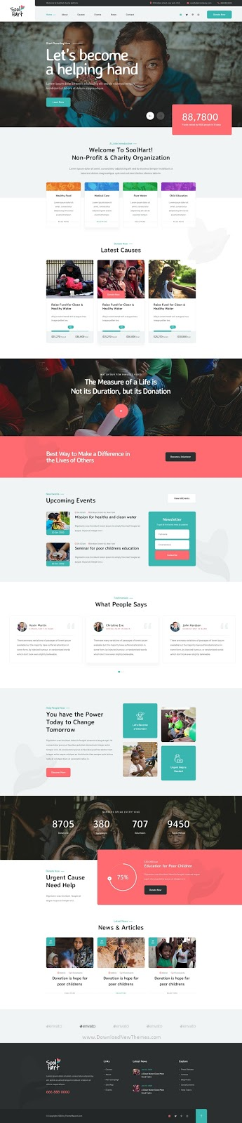Charity NonProfit Website Template