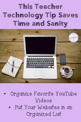 If you are like me, you use many different websites and videos in your classroom. The problem is organizing all of these! Find the solution to keeping all your YouTube videos ready to play ad free as well as keep all websites together with this FREE teaching tool! Step by step examples of how to use this are included. #confessionsofafrazzledteacher #teachers #technologytips {Kindergarten, First, Second, Third, Fourth, and Fifth Grade Teachers}