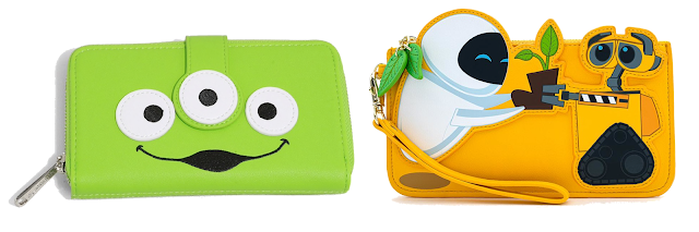 Pixar Fest Loungefly Alien Wallet and Wall-e wristlet