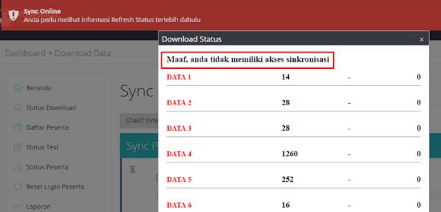 Error Download Status Sync UNBK/ANBK
