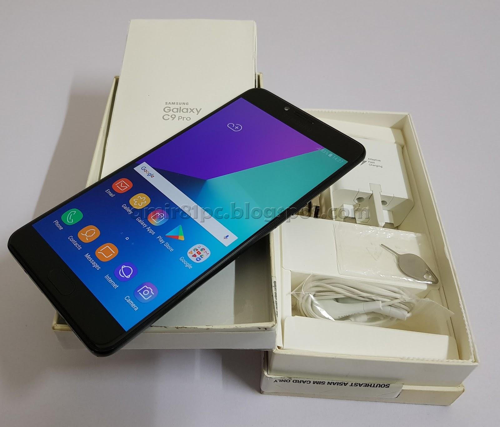 Used Original Malaysia Set Samsung Galaxy C9 Pro 6GB RAM 64GB ROM 16MP Camera Front Back Display 6 Inch Full HD Fingerprint Sensor RM 1285