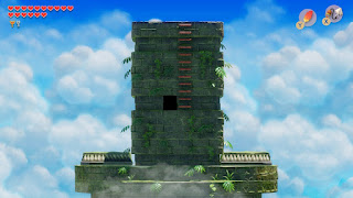 an outside shot of the tower right before it's collapsing