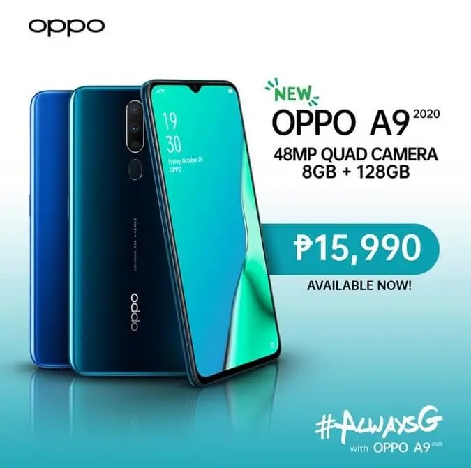 OPPO A9 2020 Now Available in the Philippines; Sold More Than Php100M in First 2 Hours