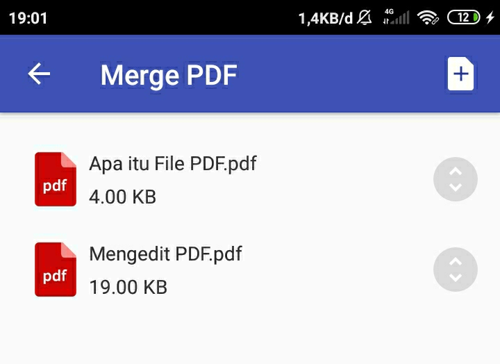 Daftar File PDF yang Akan Digabungkan