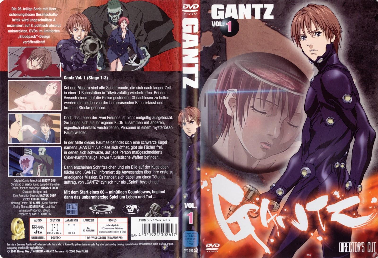 Capas DVD Gantz Directors Cut Vol 1 a Vol 8