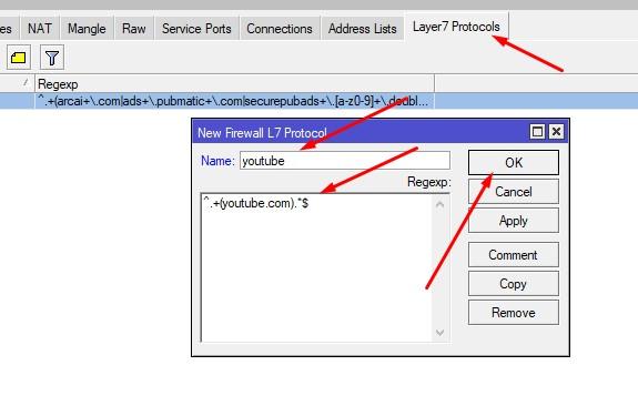 ini dia cara blokir youtube di mikrotik menggunakan layer 7 protocol