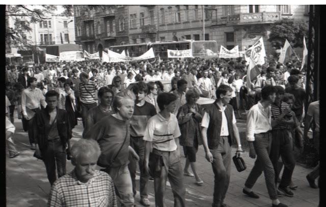 Manifestacja NZS 1989 w Lublinie