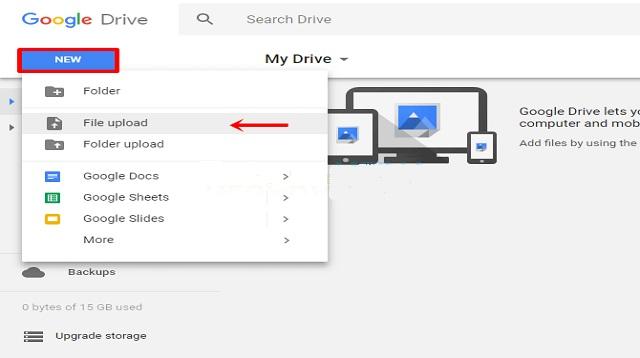 Cara Upload Video di Google Drive