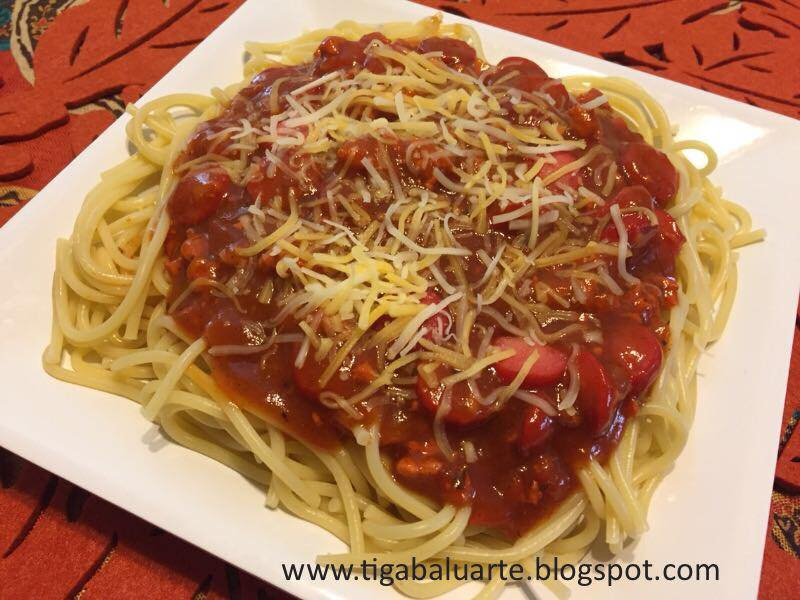 The Kids Favorite Filipino Style Spaghetti This Recipe Is Creamier Than The Usual Sauce And I Used Ground Chicken This Time It Turned Out Really Good