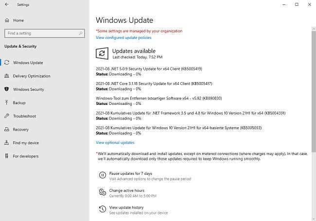 تعرف علي وحمل أهم تحديثات الأمان الصادرة من ميكروسوفت لويندوز 7 ، 8 ، 10 أغسطس 2021